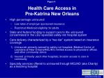 health care access in pre katrina new orleans