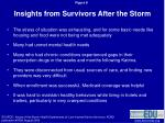insights from survivors after the storm