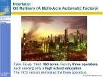 interface oil refinery a multi acre automatic factory