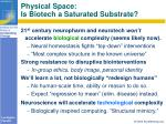 physical space is biotech a saturated substrate