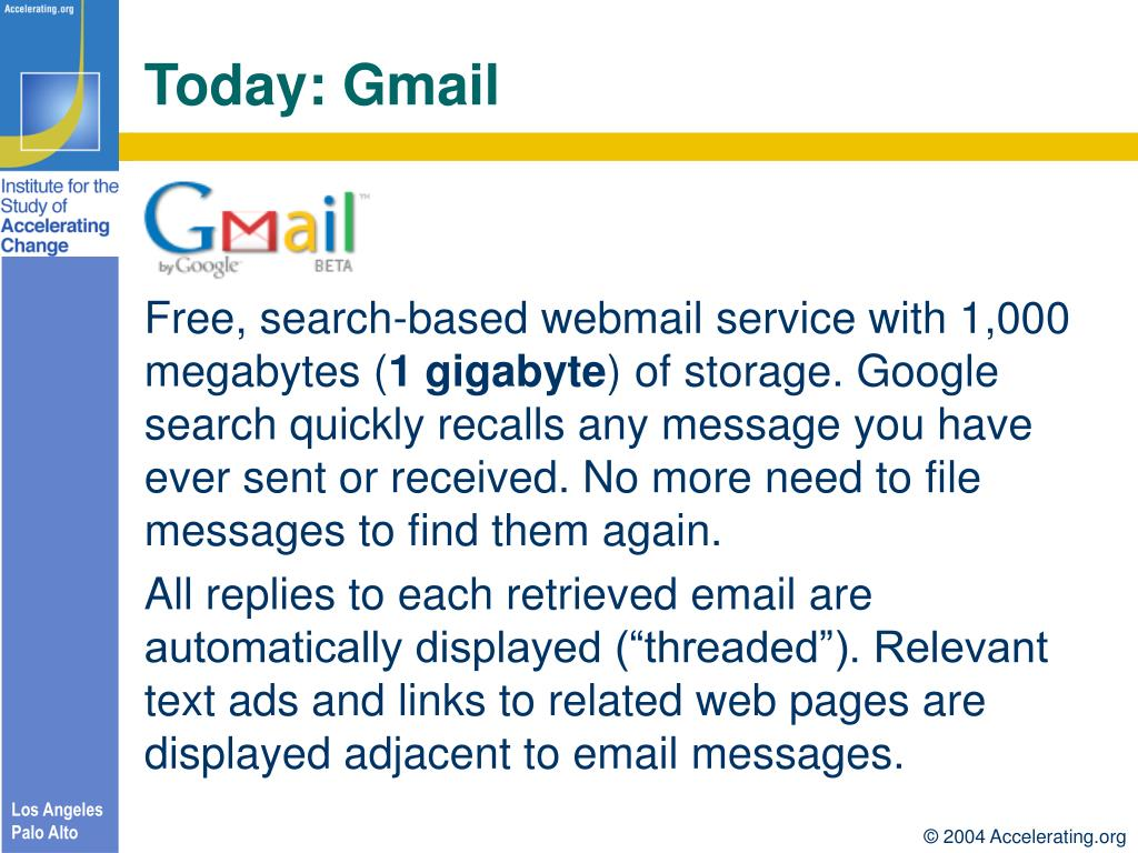 Today: Gmail