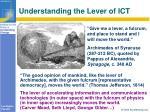 understanding the lever of ict
