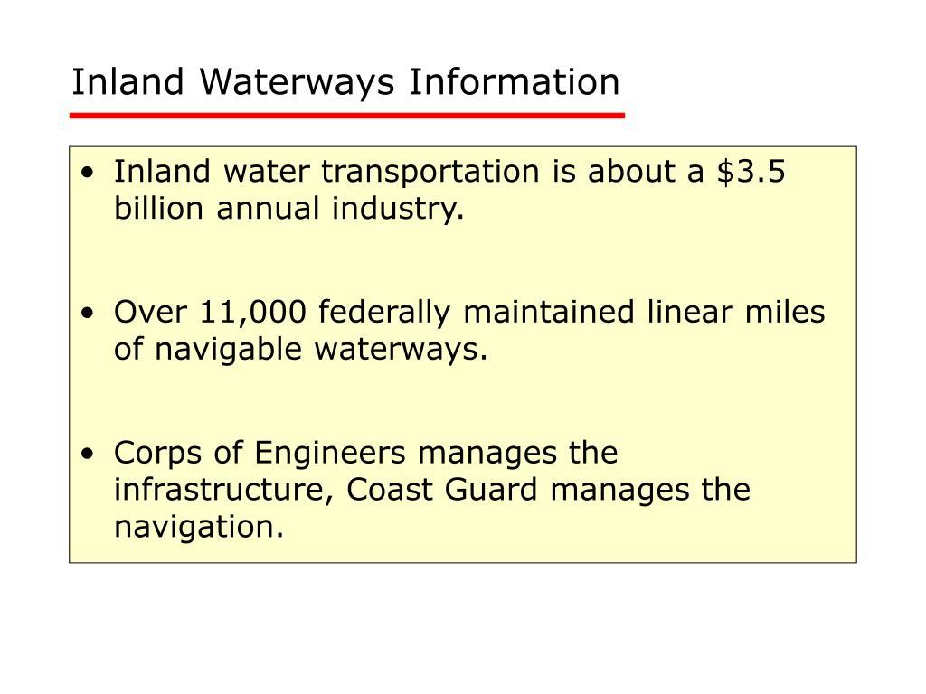 Inland Waterways Information