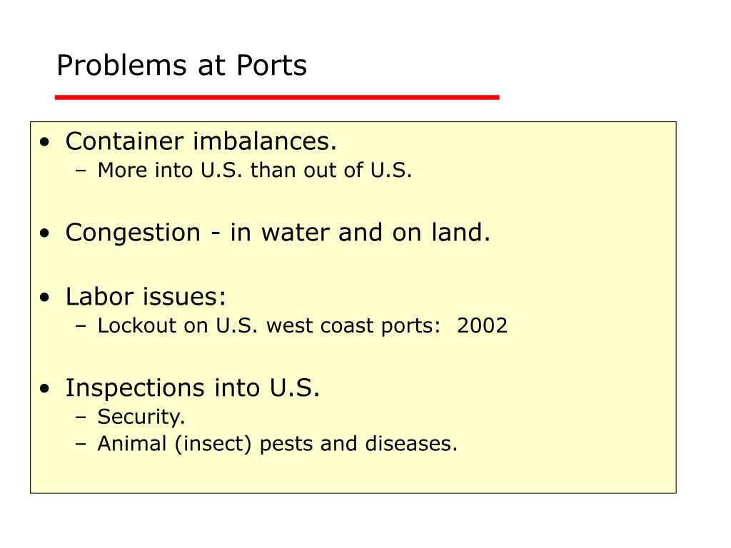 Problems at Ports