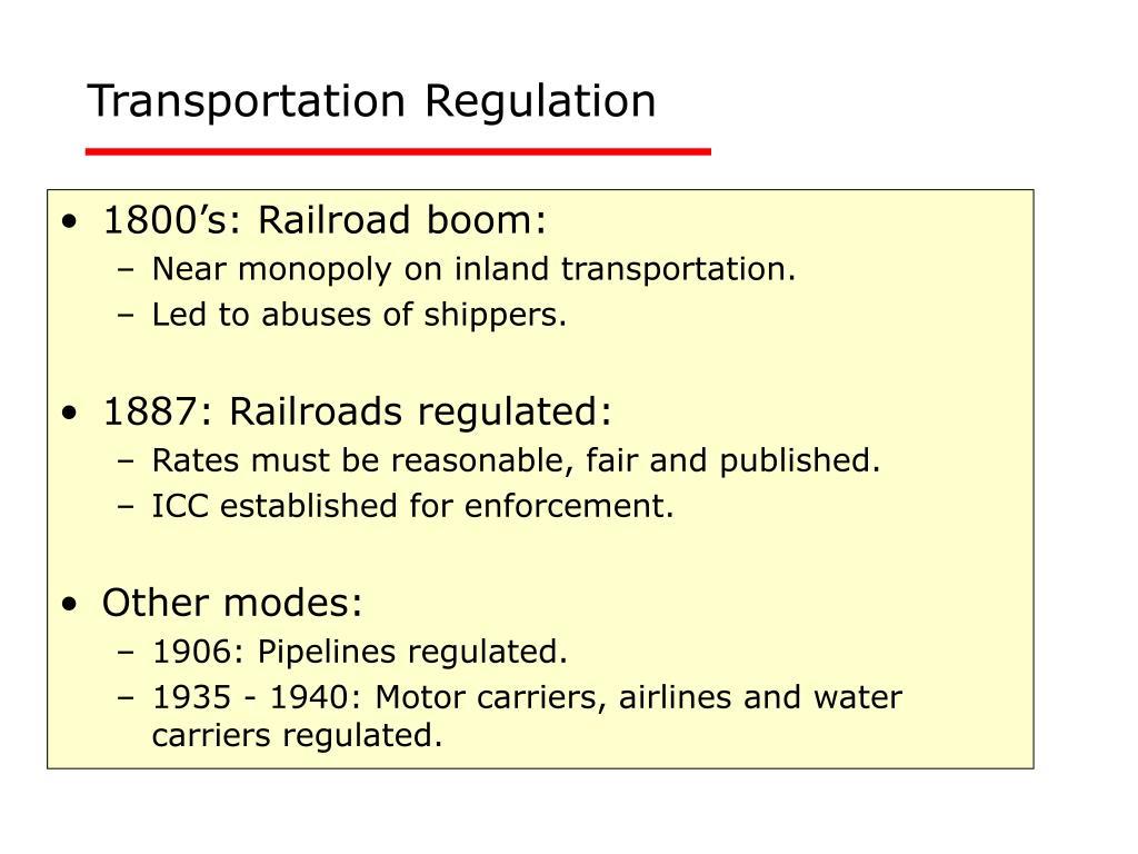 Transportation Regulation