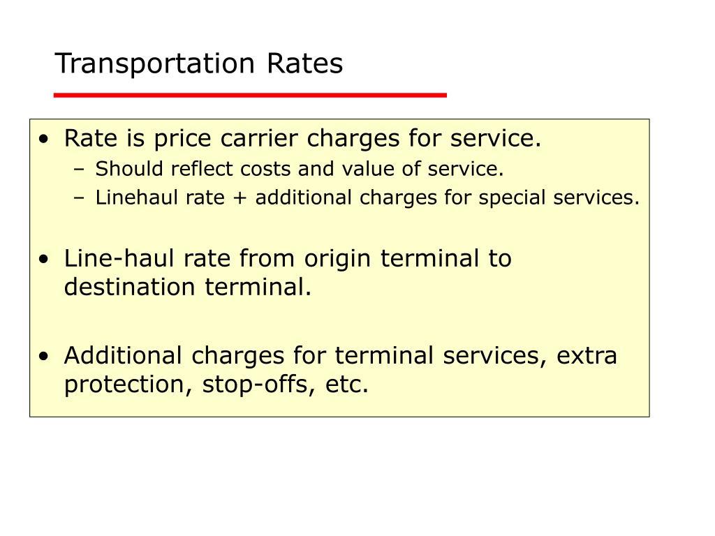 Transportation Rates