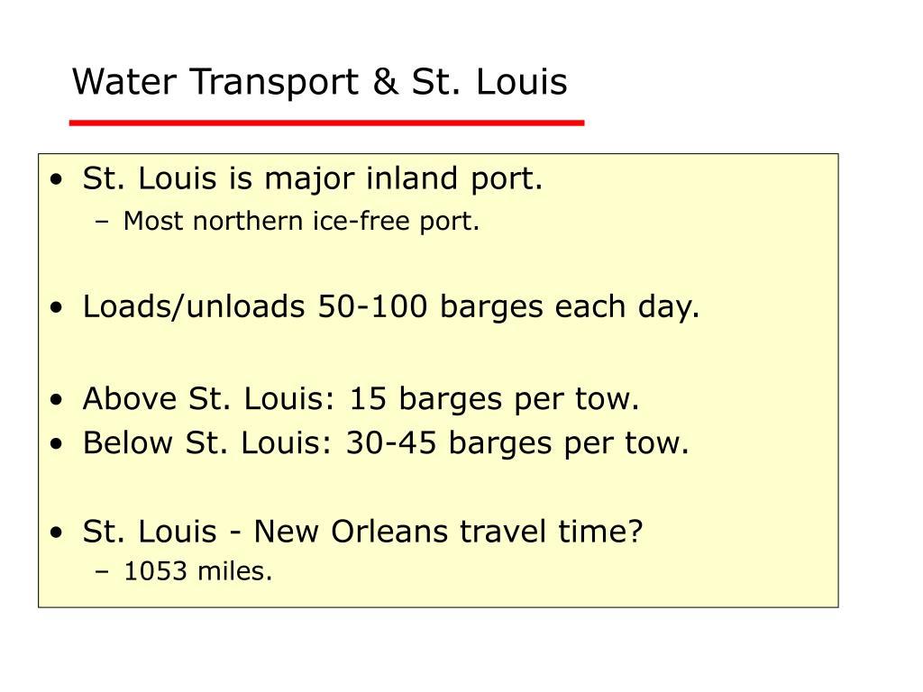 Water Transport & St. Louis