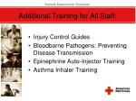 additional training for all staff