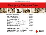 emergency response time