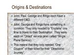 origins destinations