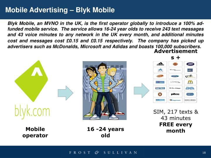Mobile Advertising – Blyk Mobile