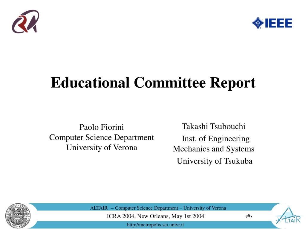 educational committee report l.
