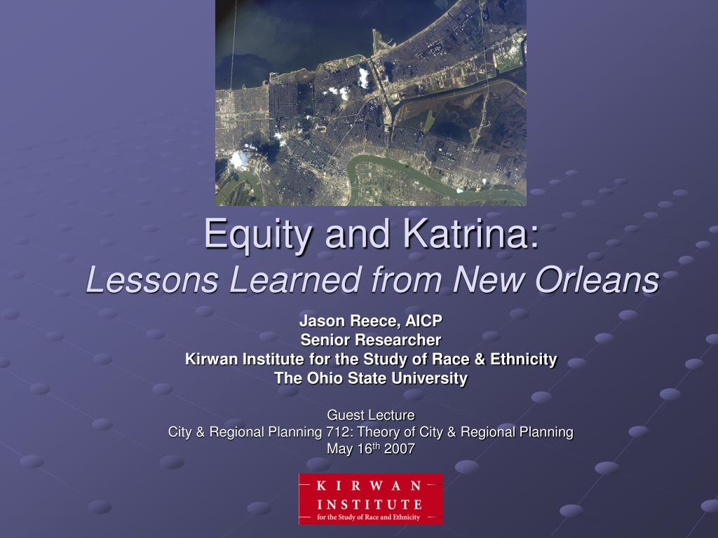 equity and katrina lessons learned from new orleans l.