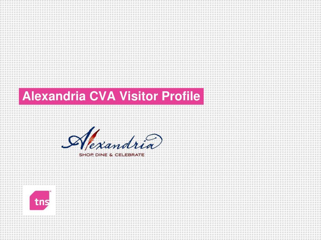 alexandria cva visitor profile l.