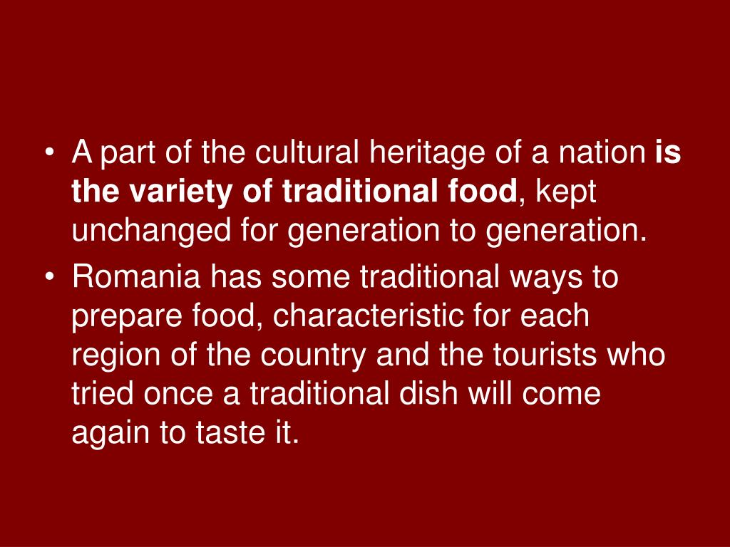 A part of the cultural heritage of a nation