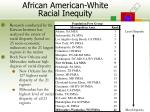 african american white racial inequity