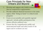 core principals for new orleans and beyond