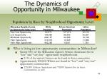 the dynamics of opportunity in milwaukee44