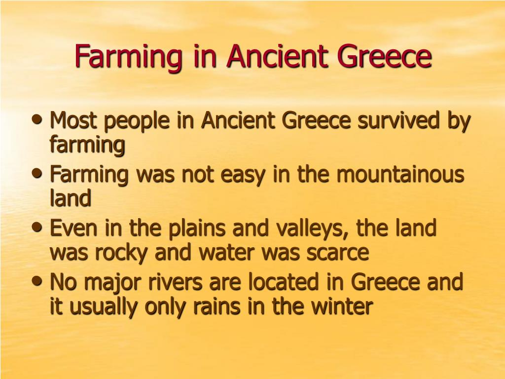 Farming in Ancient Greece