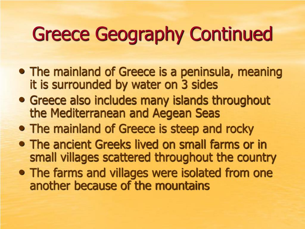 Greece Geography Continued