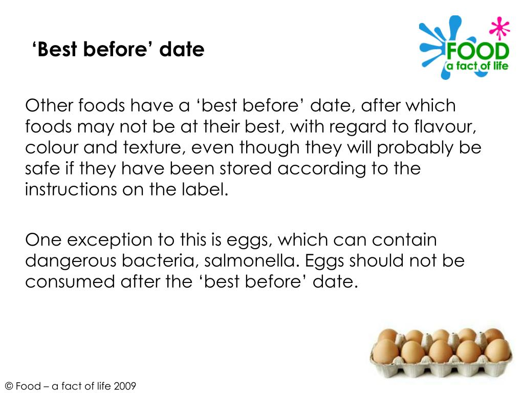 'Best before' date