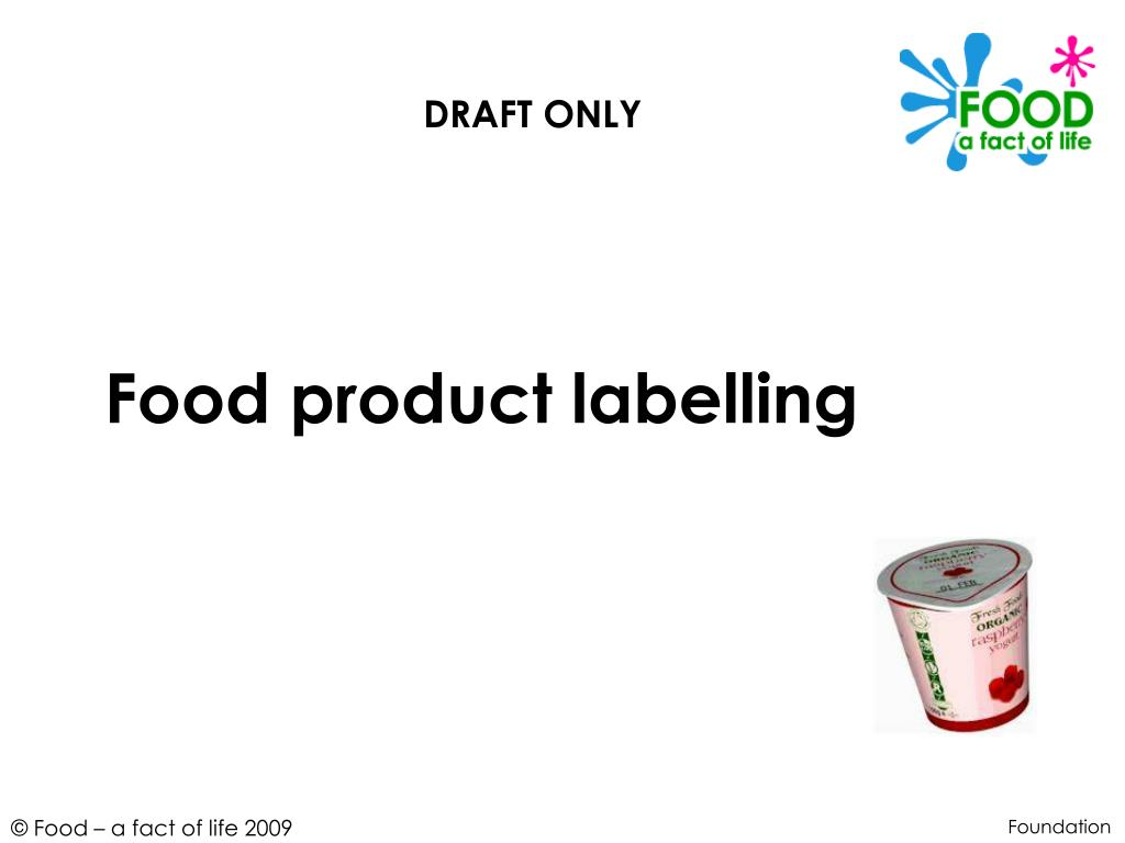 food product labelling l.