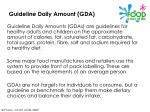 guideline daily amount gda