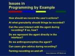 issues in programming by example8