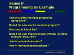 issues in programming by example9