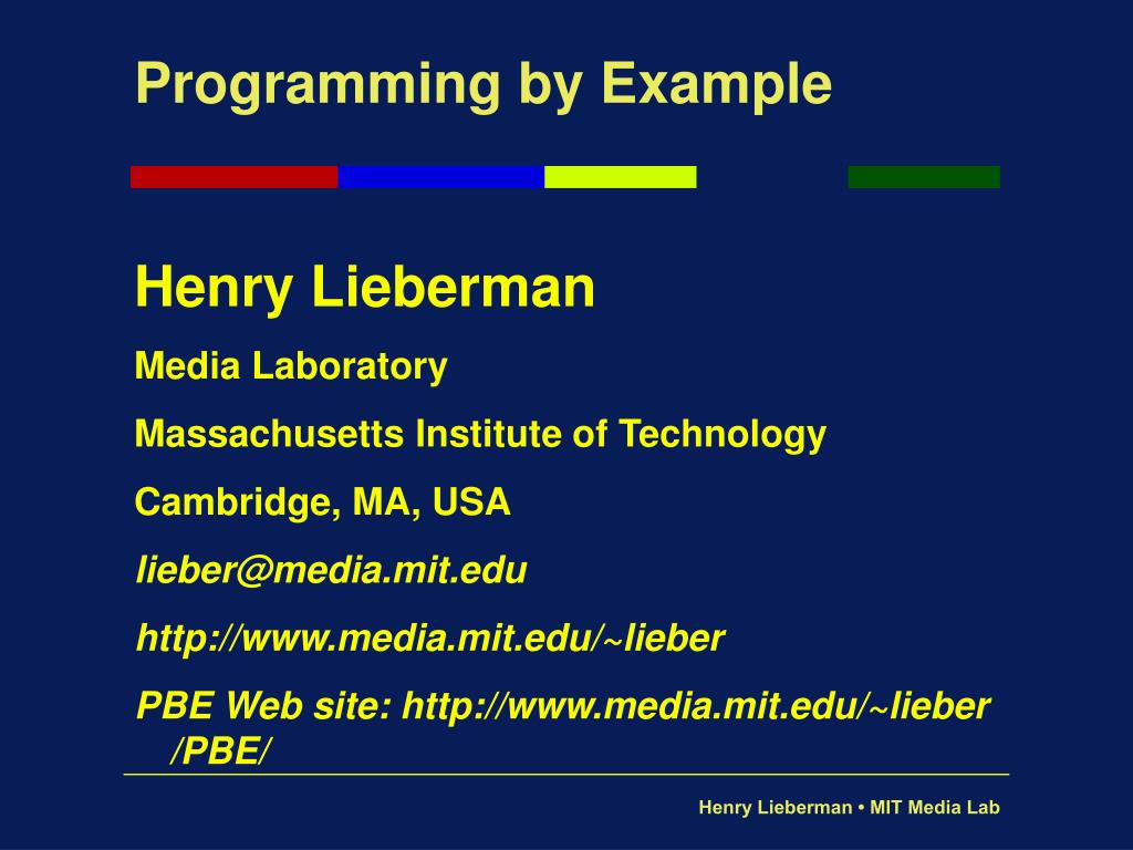 programming by example l.