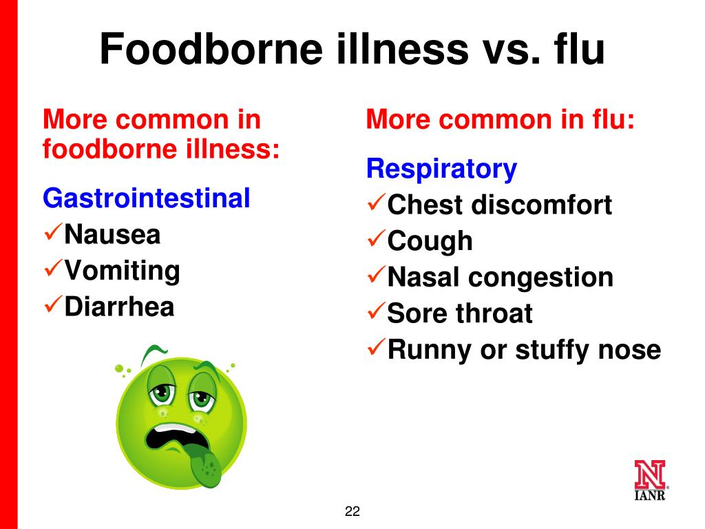 More common in foodborne illness: