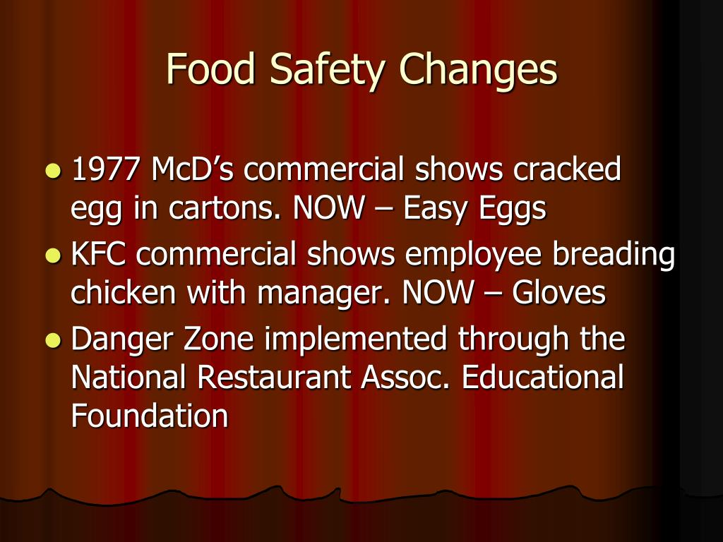 Food Safety Changes