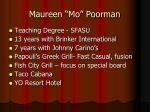 maureen mo poorman