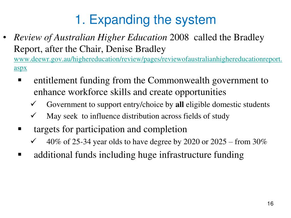 1. Expanding the system