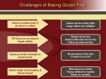 challenges of baking gluten free
