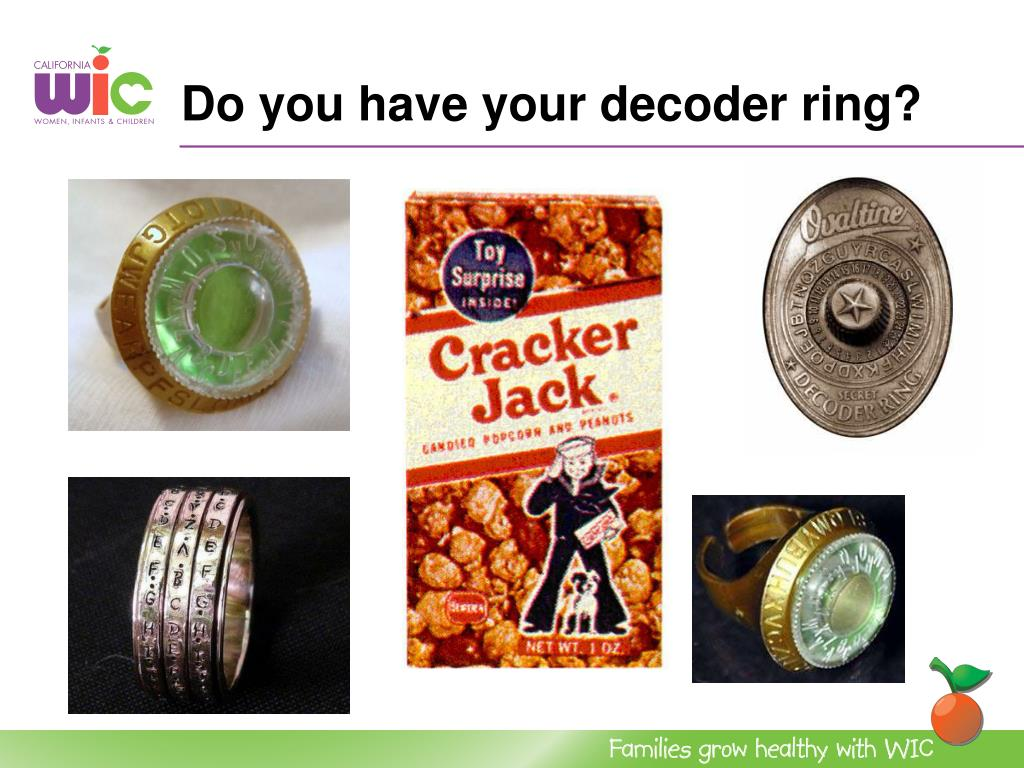 Do you have your decoder ring?