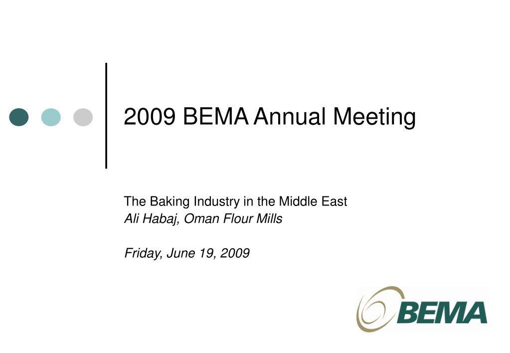 2009 bema annual meeting l.