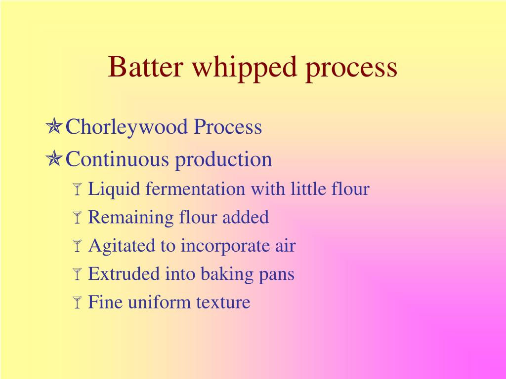 Batter whipped process
