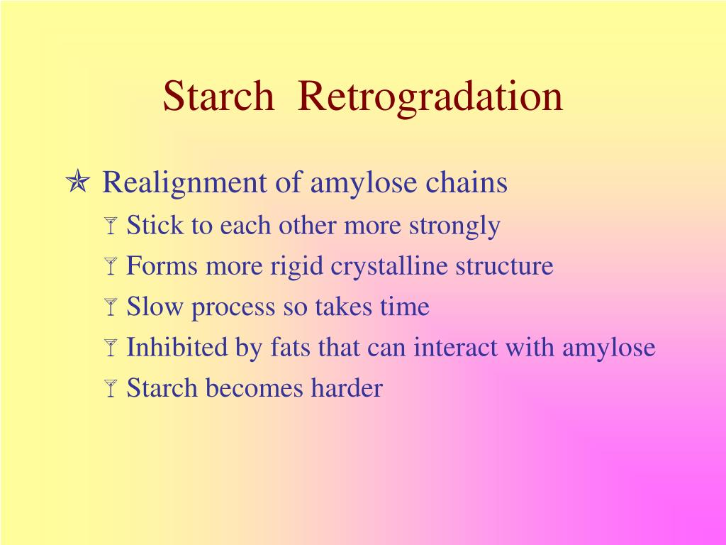 Starch  Retrogradation