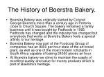 the history of boerstra bakery