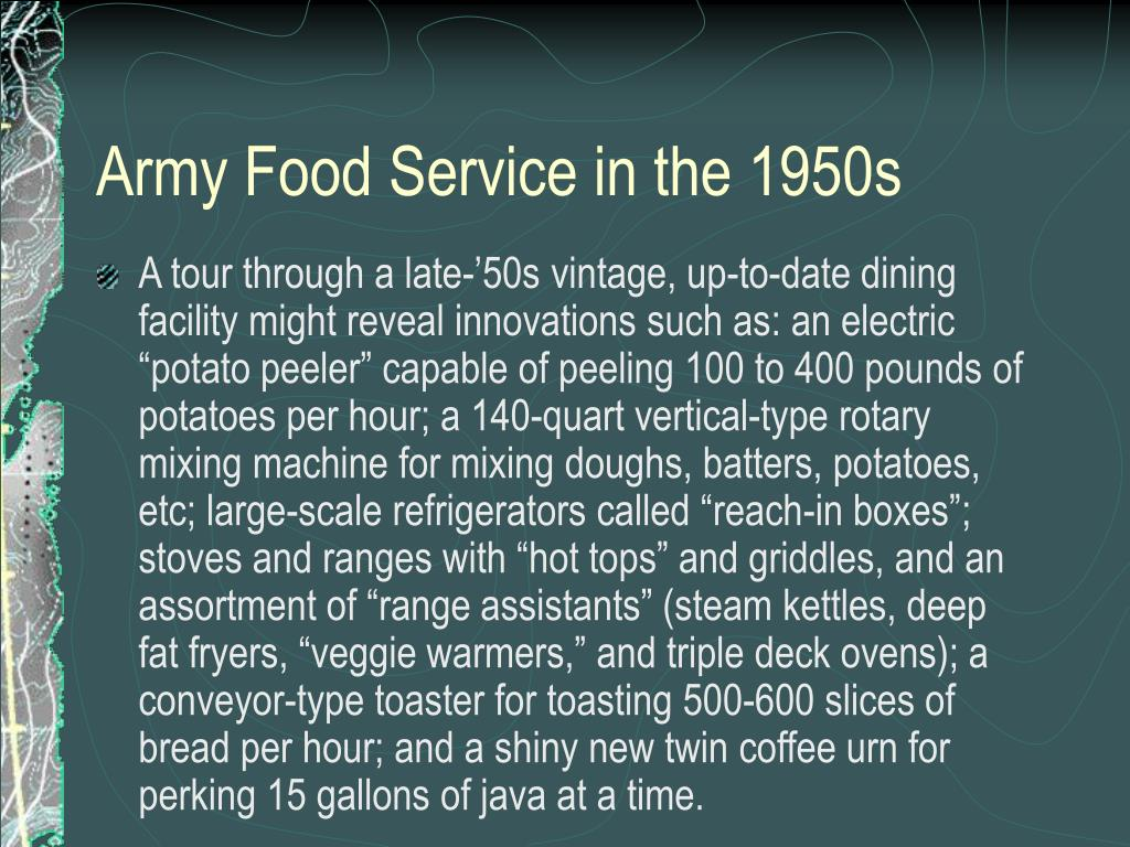 Army Food Service in the 1950s