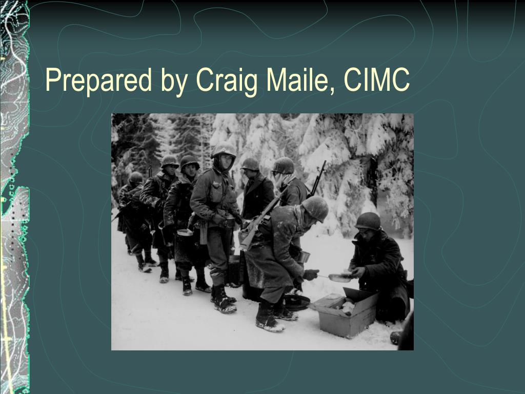 Prepared by Craig Maile, CIMC