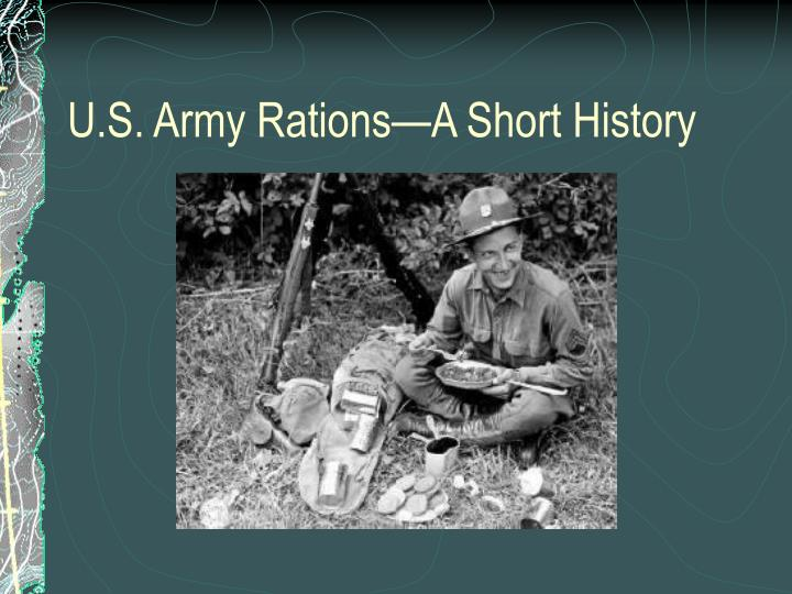 U s army rations a short history