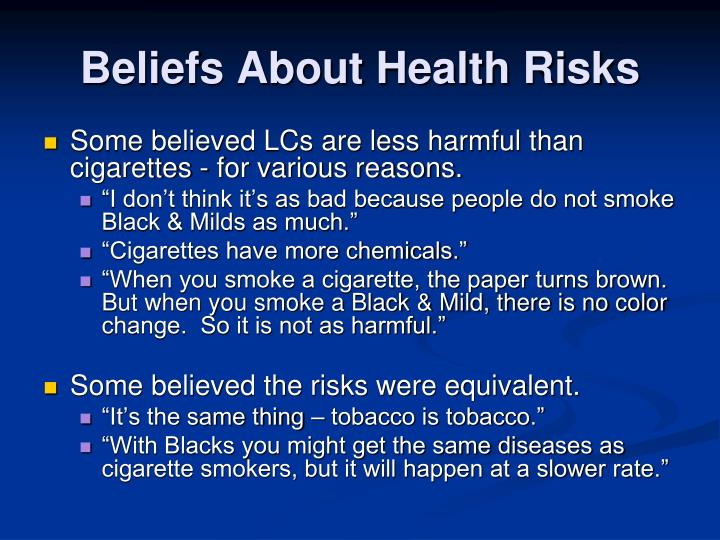 Beliefs About Health Risks