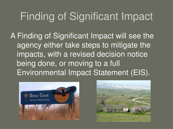 Finding of Significant Impact