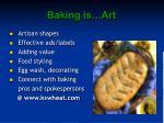baking is art