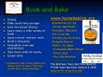 book and bake