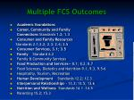 multiple fcs outcomes