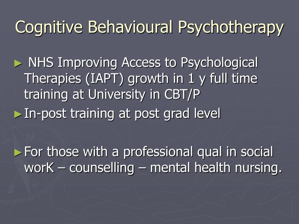 Cognitive Behavioural Psychotherapy