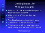 consequences or why do we care